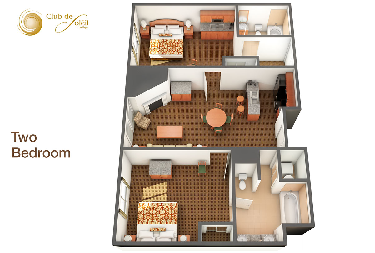 Two Bedroom Suite. Two Bedroom Suite 2 Suites at Club de Soeil