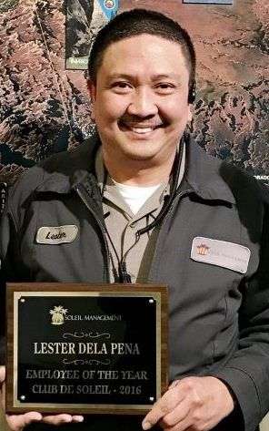 Lester Dela Pena, our 2016 Employee of the Year.