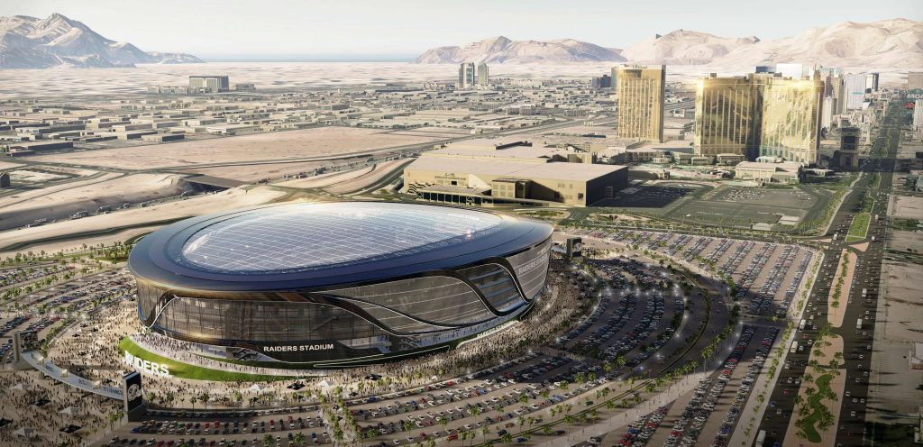 It's now more than a proposal. It's a reality. The Raiders are leaving Oakland for Las Vegas and will play in a 65,000-seat domed stadium just 3.5 miles from Club de Soleil!